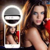Wholesale Universal Selfie LED Ring Flash Fill Light Clip Camera For Phone For iPhone For SAMSUNG Smart Phone