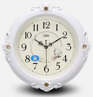 Wholesale European mute wall clock rural contracted fashion clock the sitting room of modern quartz clock