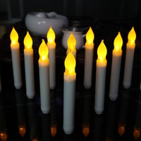 Wholesale 20 LED electronic candle light Long plastic Christmas candles Long pole candle light crafts