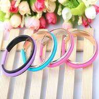 Wholesale Rubber band Titanium bracelets fashion hair tie bracelet vintage open Titanium steel cute bangles for women