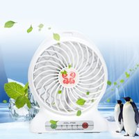 bathrooms fans - Portable Mini USB Fan Rechargeable Battery Operated LED Lamp for Indoor Outdoor Kids Table Mini Fan