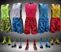 basketball suit - Newest Arrival Fashion Hot Man Basketball Clothes Camouflage Sweat Suit Athletic Training Running Breathable Uniforms Five Color Size XL XL