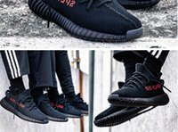 Wholesale 2017 BLACK RED CP9652 V2 BOOST KANYE SHOES LIMITED BRED REAL SHOES DISCOUNT MEN WOMEN OUTDOORS CP9652 SIZE