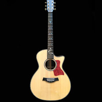 Wholesale handcrafted cut away acoustic guitar AAA solid spruce top ebony fingerboard guitars