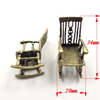 antique styling chair - Pack Antique Style Bronze Tone Alloy Jewelry Accessories Rocking Chair Charms Necklace Pendant mm