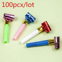 Wholesale Hot sale Plastic Blowout Blow Volume Children Whistle Birthday Party Cheerleaders Supplies Cheering Props