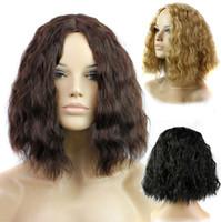 Wholesale Women Short Bob Fluffy Hair Full Wigs Kinky Straight Custom Cosplay Party Wigs
