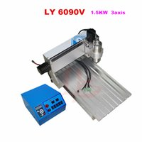 big cnc router - cnc mill machine V KW axis big size wood Router Engraving Drilling and Milling Machine for wood cutting with rotation axis