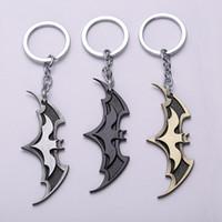 Promotion batman cartoon movies - Fashion Cartoon Batman Icon Metal Keyring Rhodium Plated Split Key Rings Findings Round Keychain Key Chains