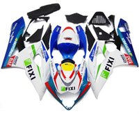 Wholesale 4 Free Gifts New ABS bike Fairings Kits Fit For SUZUKI GSXR1000 K5 GSXR GSXR Bodywork set red blue FIXI