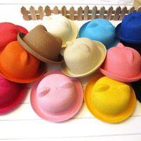 Cheap Girl baby hats caps Best Summer Visor kids crochet hat