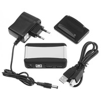 Wholesale New Port High Speed USB HUB AC Powered Adapter Cable UK US EU Plug Optional for Computer C1082