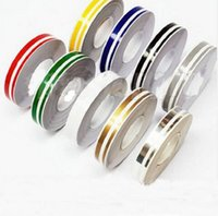 Wholesale pieces Car Styling Auto Double Pinstripe Tape Decals Stickers pin stripping tape vehicle accessories vinyl decorate