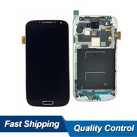 Wholesale AAA Grade For Samsung S4 Lcd Touch Screen Display Digitizer i9500 i9505 i545 Full Assembly Tested Well
