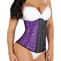 beautiful body shape - Animal print leopard steampunk corset women sexy waist shaping corset beautiful show your nice body corsets and bustiers DHL free