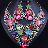 african american romance - 2017 New arrival Diamond Necklace Earrings Jewelry set luxury africa nigeria romance wedding Jewelry set for woman JW0055