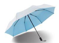 adhesive shades - Fashion amphibious umbrella small and pure and fresh colour adhesive stripes rain or shine Mist side glue shade sunscreen uv sun umbrella