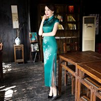 Wholesale new autumn banquet cheongsam cheongsam modified big yards long daily grace cultivate one s morality dress
