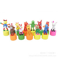 animals zoo games - Wooden Baby Swing Dancing Zoo brinquedos Funny juguetes games Rocking Animals kids toys for children action figures bonecos