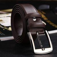 automatic needle - new hip brand buckle designer belts for men women genuine leather gold cinto belt Men s
