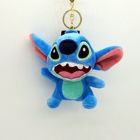 Wholesale Cartoon stitch key chain stitch plush pendant backpack bag pendant car furnishing articlesLovely creative stitch key car key chain bag packa