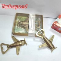 Wholesale Let the Adventure Begin Airplane Beer Bottle Opener Parts Event party favors Wedding Door Gifts