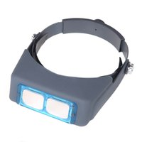 Wholesale Double Lens Head mounted Headband Reading Magnifier Loupe Head Wearing Magnifications from coolcity2012