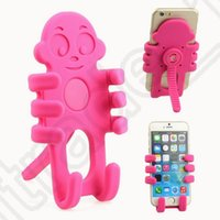 airs monkeys - Monkey Car Cell Phone Holder Flexible Cartoon Hanging Silicon Gel Support Hot Air Outlet Mobile Phone Holder Stand OOA1010