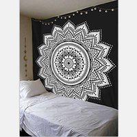 Wholesale Whole Sale Pink Purple Mandala Lotus Tapestry Wall Hanging Indian Wall Hippie Decorations Beach Throw Bohemian Tapestries
