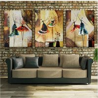 Oil Painting ballet picture frames - Unframed Panel Handpainted Ballet Dancer Abstract Modern Wall Art Picture Home Decor Oil Painting On Canvas For Bedroom