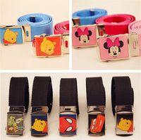 Wholesale New Children Belts Designer Belts Fashion Children Waist Belt Kids Waist Belt Adjustable Cartoon Belts B0927