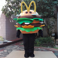 Wholesale Dicos hamburger cartoon garment KFC hamburger cartoon clothing advertising mascot costumes hamburger free delivery