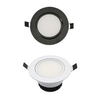 Wholesale LED COB Downlight AC85 V W Recessed LED Spot Light Lumination Indoor Decoration Ceiling Lamp Black Silver
