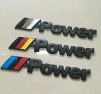 Wholesale Car Styling D Car Emblem Badge Sticker Decal Chromed Metal MPower For BMW M Power M Tech