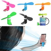 Wholesale Mini USB Fan With Package Pin Flexible Portable Super Mute Cooler Cooling For Android Phone Iphone S Plus Ipad