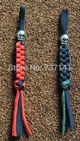 Wholesale survival paracord keychain skull knife Lanyard Keychain Rope Skull Paracord Key Chain
