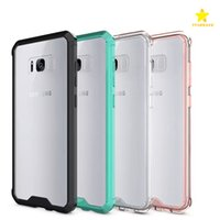 Wholesale For iPhone Samsung Galaxy S8 Plus Case Soft TPU Bumper Clear Hybrid Back Cover Case For Samsung S8 Edge S8plus