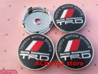 Wholesale High quality mm TRD car Wheel Center Hub Cap Badge emblem covers auto accessories