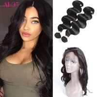 Wholesale Pre Plucked Frontal with Bundles Body Wave Hair Weaves Human Hair Bundles Natural Color Lace Frontal with Bundles