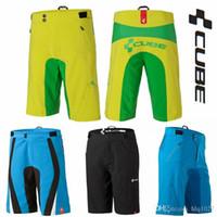 Wholesale Cube Teamline Cycling Mountain Bike Riding Shorts MTB BMX Downhill MX Motorcross Shorts Bicycle Bermudas