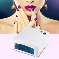 Wholesale Professional W UV Lamp V Curing Light Nail Art Tools White Pink EU UK US Plug