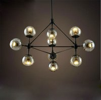 balls art works - Modern magic beans DNA Lustres wrought iron industrial Modo project lamps Nordic Art Deco glass ball MOD pendant hanging lights