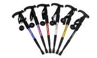 Wholesale The aluminium alloy shock absorber T handle bent Trekking Poles