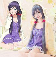 Wholesale HOT NEW LOVE LIVE Cosplay Anime Tojo Nozomi Costume Plush Girlfriends Cute Pajamas Lamb Pajamas Suit
