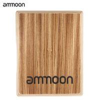 Wholesale HOT ammoon Compact Travel Cajon Flat Hand Drum Persussion Instrument Zebra Wood