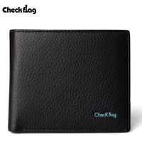 Wallets Men Credit Card Checkflag Male Genuine Leather Wallets Black Good Quality Soft Short designer Card Gift For Father Or Friend