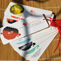 Wholesale Chinese color Bookmarks sheets Painting color Classical Chinese wind bookmarks creative gift