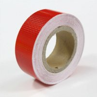 Glue Sticker automobile tips - 5 cm High intensity pvc reflective tape reflective stickers for Automobiles Motorcycle Reflective Film Red