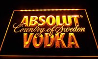 absolut light - LS032 y Absolut Vodka Country of Sweden Beer Neon Bar Light Sign jpg