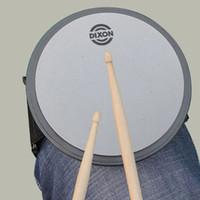 Bon Marché Ensembles de batterie-Grossiste - DIXON 6 pouces Silent Drum Practice Pad ronde gris couleur Portable Leggings Jazz Drum Pad Set